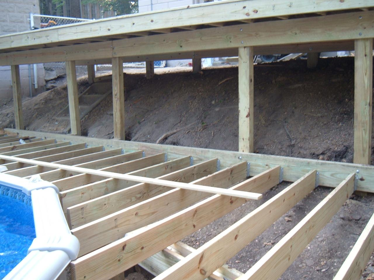 L a deck service before after for Cost of building on a steep slope